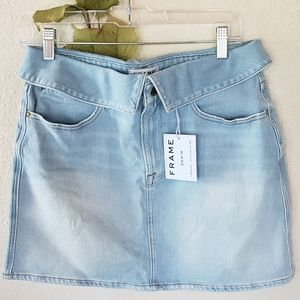 Frame Le High Mini Fold Over Skirt